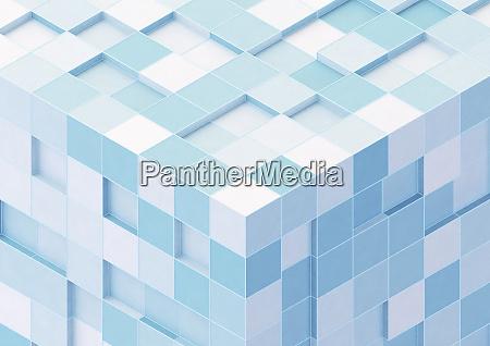canto do grande cubo dado forma