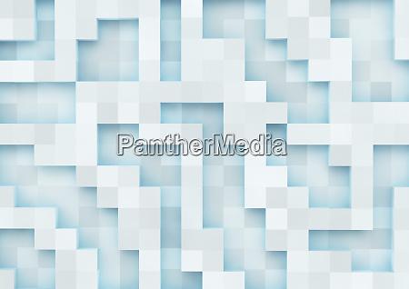 padrao de grade quadrada tridimensional