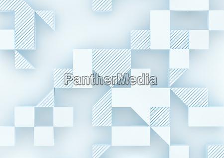 formas tridimensionais em padrao geometrico