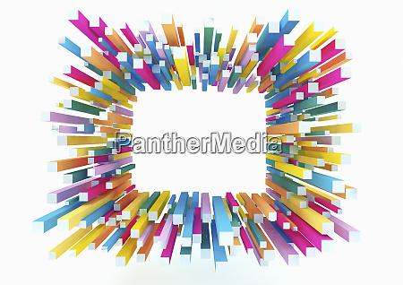 colunas quadradas formando borda de quadro