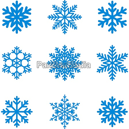 snowflakes icon collection vector shape
