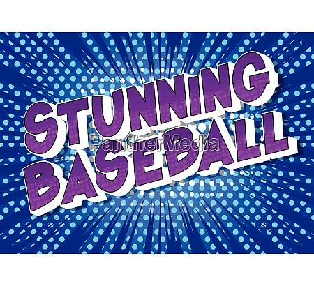 stunning baseball comic book style