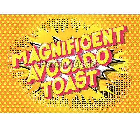 magnificent avocado toast comic book