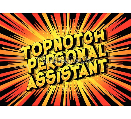 topnotch personal assistant vector illustrated