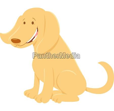 happy beige dog cartoon animal character