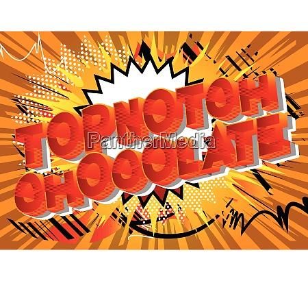 topnotch chocolate comic book style