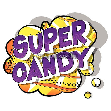 super candy comic book style