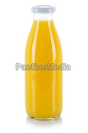 garrafa de suco de laranja isolada