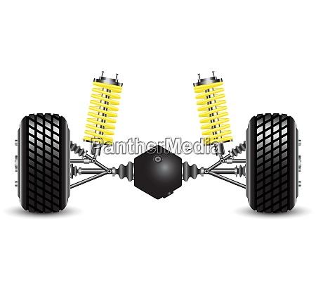 suspensão, traseira, das, molas, do, carro - 26684955