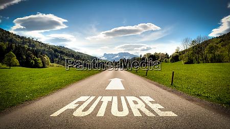sinal de rua para o futuro