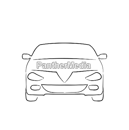 illustration abstract car isolated on white