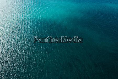vista superior do mar
