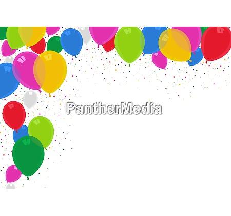 fundo de baloes de festa coloridos