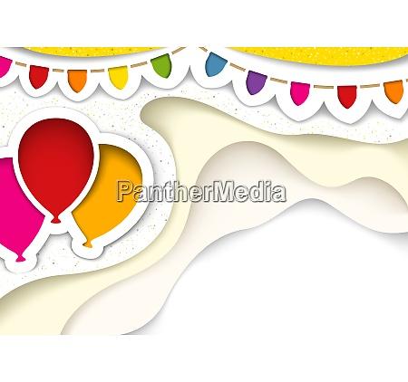 baloes de festa com decoracoes em