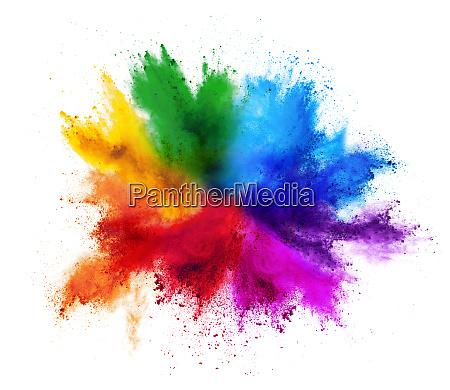 cor tinta explosao po isolado colorido