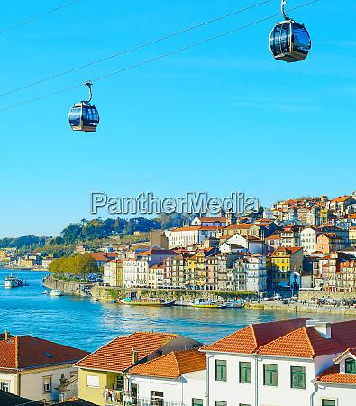 cityscape teleferico porto cidade velha