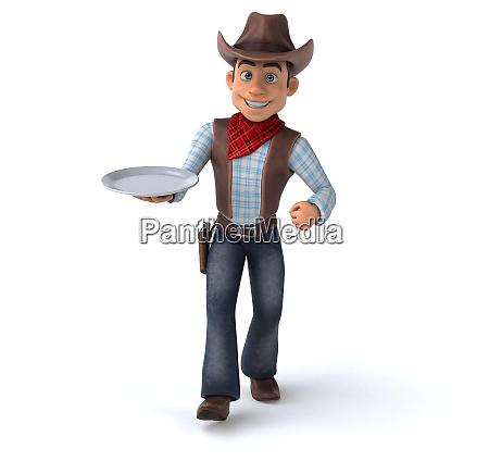 sjov cowboy 3d illustration