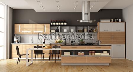 cozinha contemporanea com console