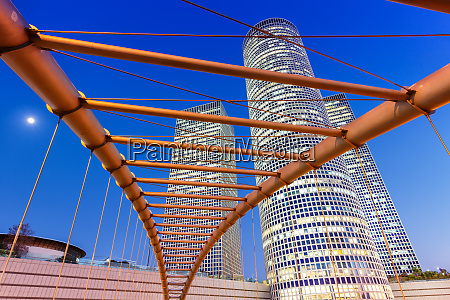 tel aviv azrieli center skyline israel