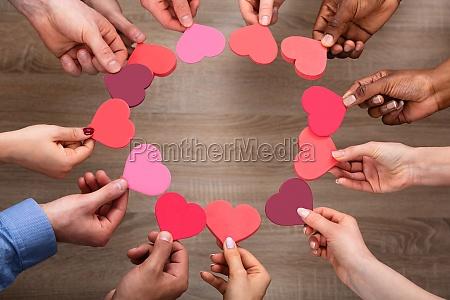 mão, das, pessoas, fazendo, círculo, com - 27018710