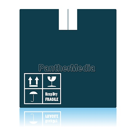 cardboard package box icon