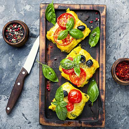 prato italiano do fuba de polenta