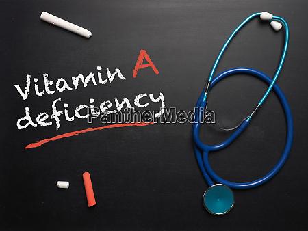 as palavras deficiencia de vitamina a
