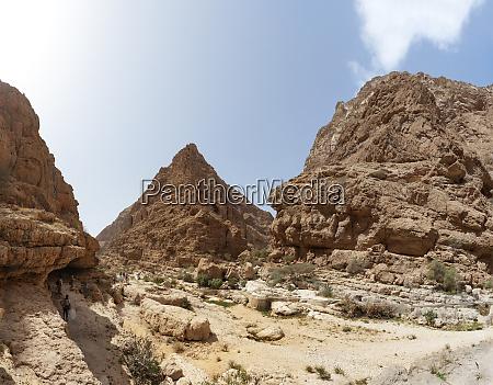 face da rocha em wadi shab