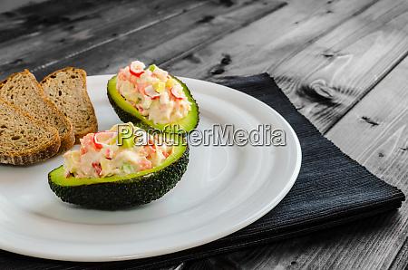 stuffed with avocado