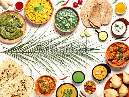 comida indiana e pratos de culinaria