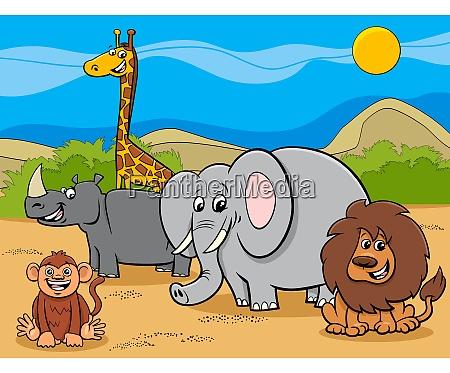 grupo de personagens de desenhos animados