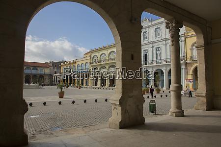 cuba havana restored colonial plaza viewed