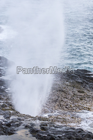 usa hawaii kauai spouting horn spray