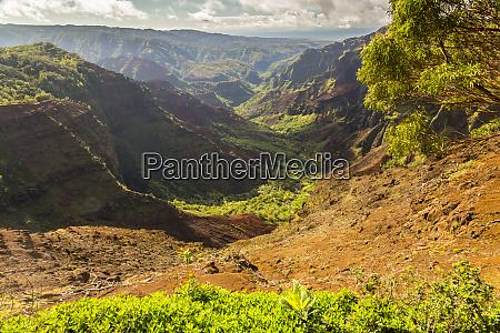 usa hawaii kauai waimea canyon landscape