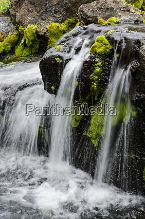 small, stream, cascading, over, rocks, in - 27341029