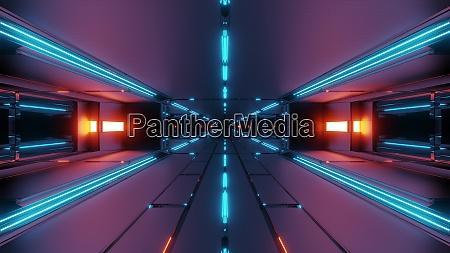 escuro, corredor, de, túnel, espacial, futurista - 27345075