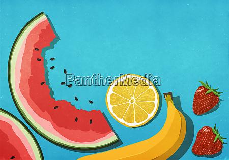 frutas, frescas, e, suculentas, no, fundo - 27357249