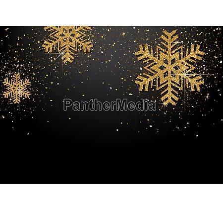 fundo com flocos de neve brilhantes
