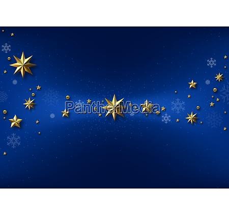 fundo de natal azul com estrelas