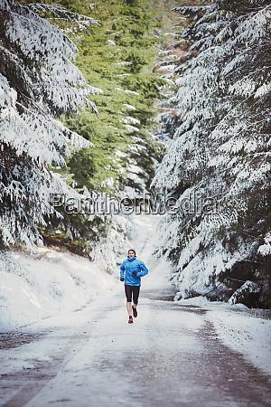 movimentação, do, homem, em, madeiras, nevado - 27460785