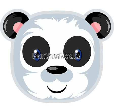 panda bonito com olhos azuis ilustracao