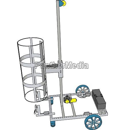 ilustracao vetorial de veiculo de construcao