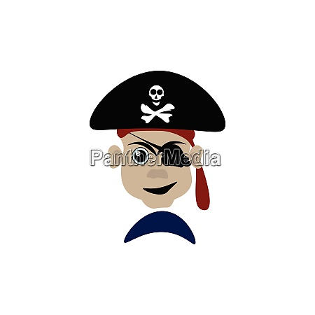 um vetor perigoso do pirata ou