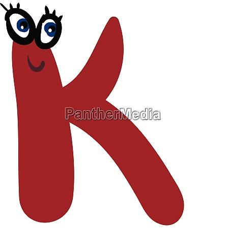 alphabet capital k emoji in red