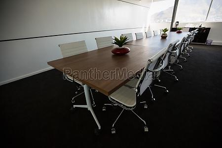 mesa de conferencia em sala de