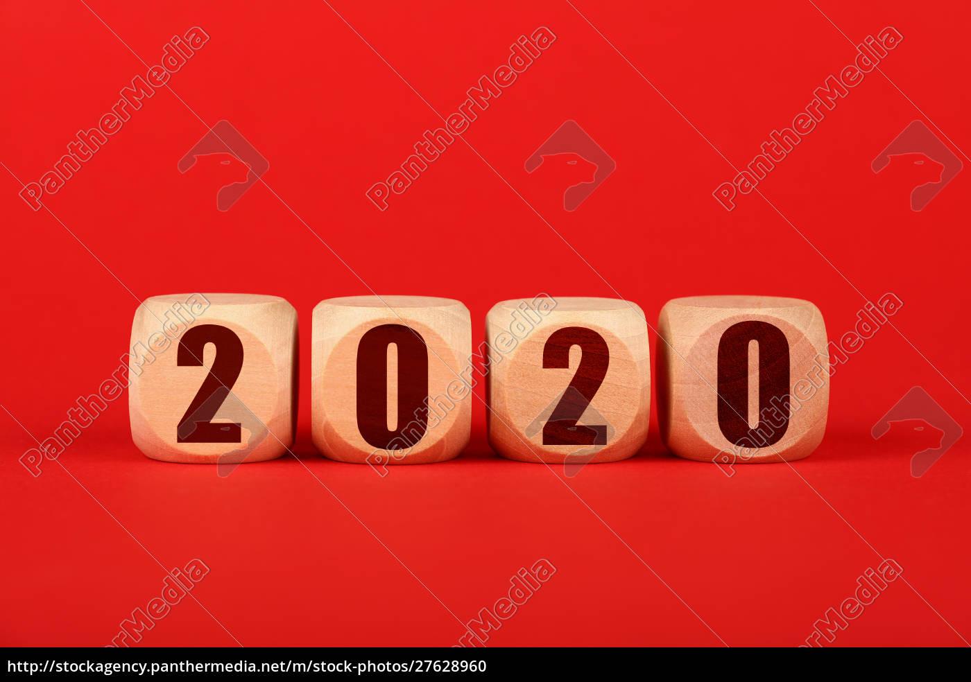 2020, sinais, de, cubo, de, madeira - 27628960