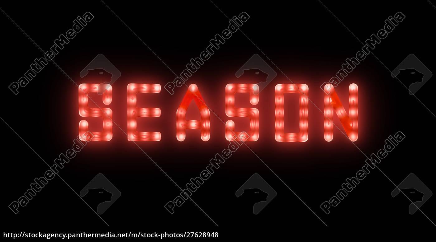 o, néon, vermelho, que, incandesceu, o - 27628948