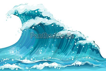 ondas natureza mar azul espuma de