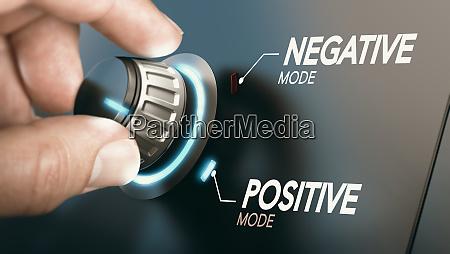 mudanca para atitude positiva conceito de