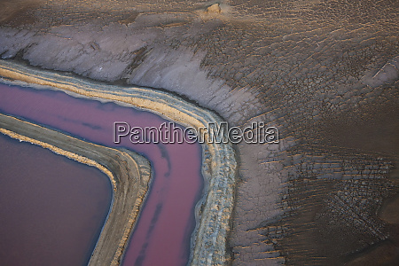 swakopmund, saltworks, , aerial, view, , namibia - 27746497